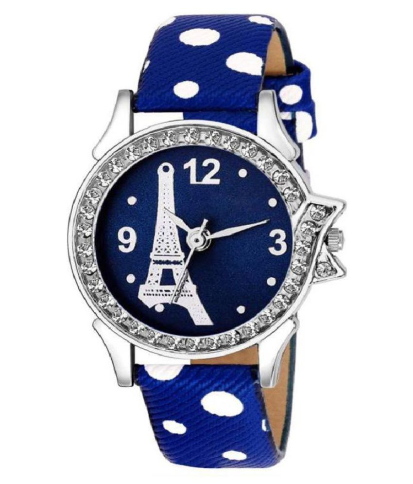 oricet Leather Round Womens Watch