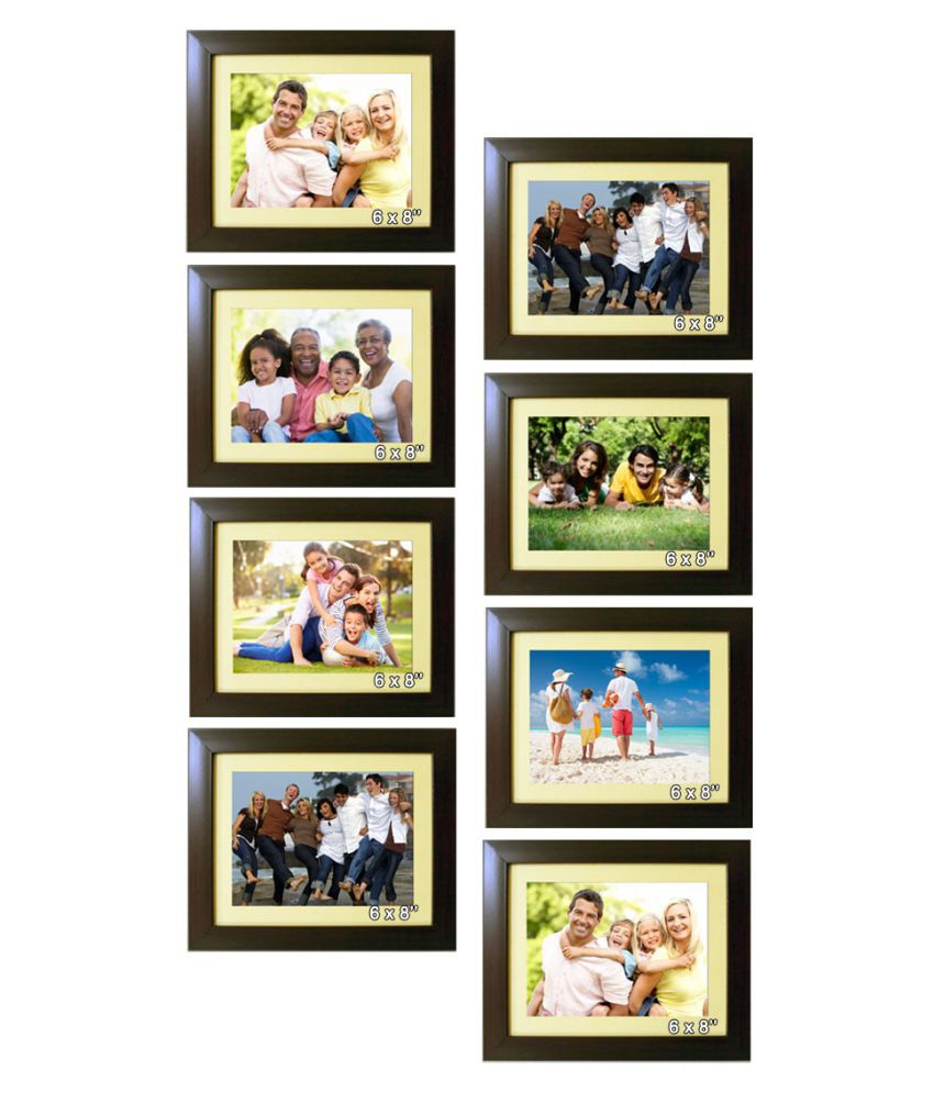 Trends on Wall Acrylic Brown Photo Frame Sets - Pack of 8