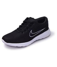 M L S Black Running Shoes