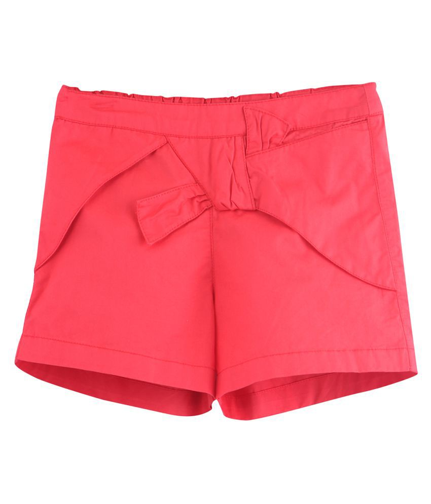 Front Winged Shorts Red 18-24M