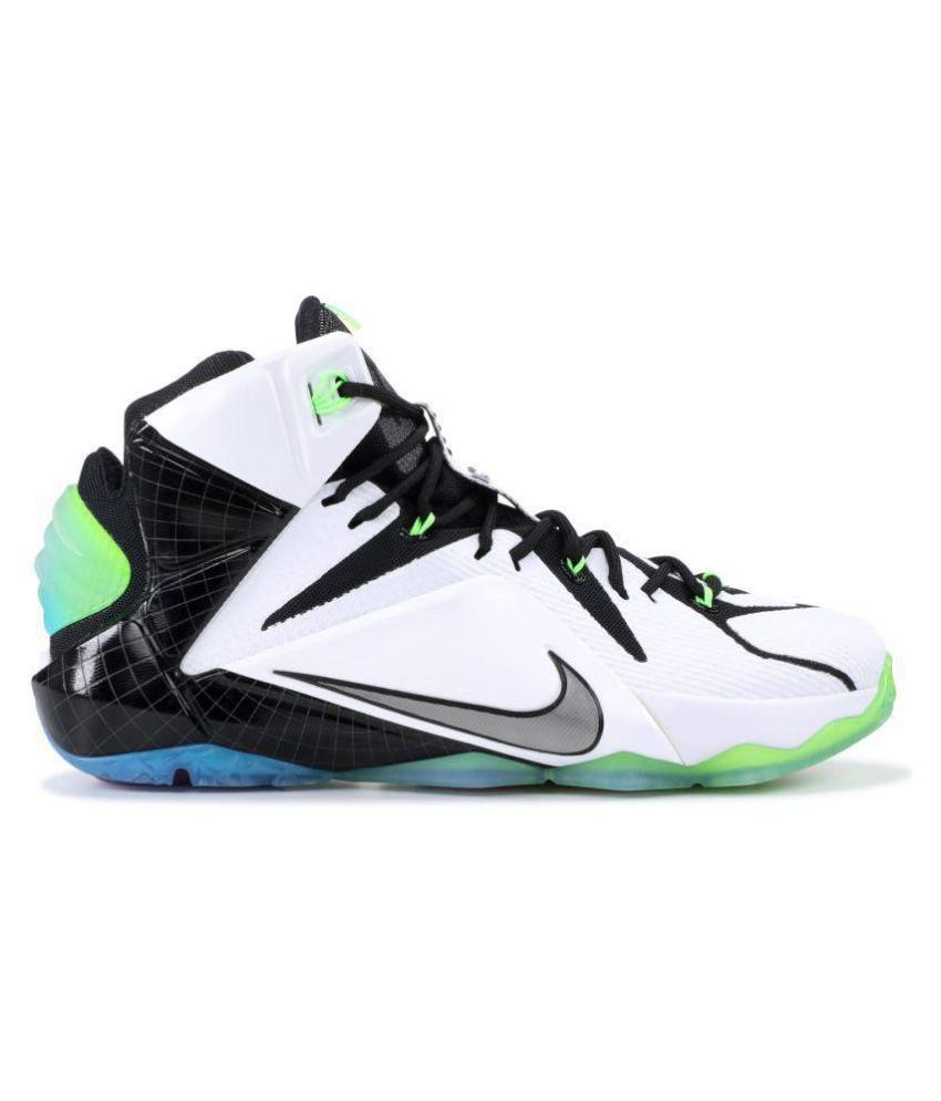 1012ddb3dfc Nike LEBRON 12 AS-ALL STAR 2015 White Basketball Shoes - Buy Nike LEBRON 12  AS-ALL STAR 2015 White Basketball Shoes Online at Best Prices in India on  ...