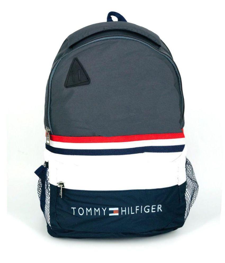 b133a9f791 Tommy Hilfiger Grey Polyester College Bags Backpacks-22 Ltrs Shoulder Bag  For Men & Women - Buy Tommy Hilfiger Grey Polyester College Bags  Backpacks-22 Ltrs ...