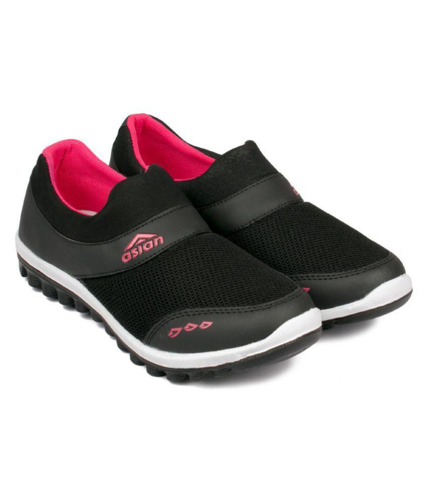 ASIAN Black Running Shoes