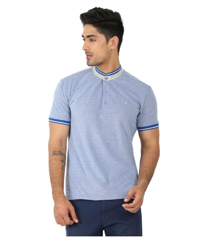 John Players Blue Half Sleeve T-Shirt