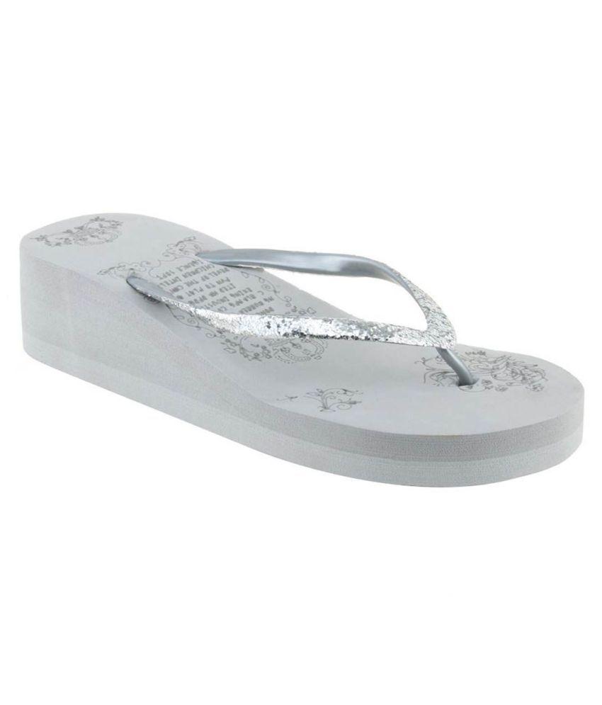 Radhika Silver Slippers