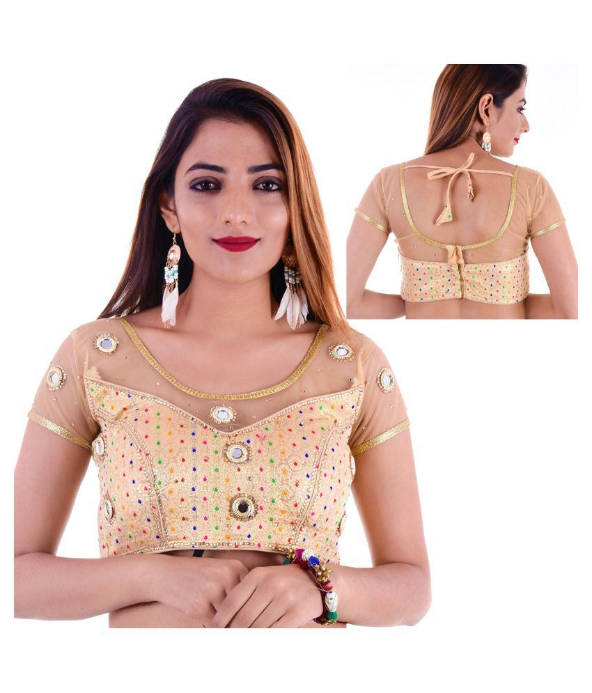Amazing Gold Silk Readymade with Pad Blouse