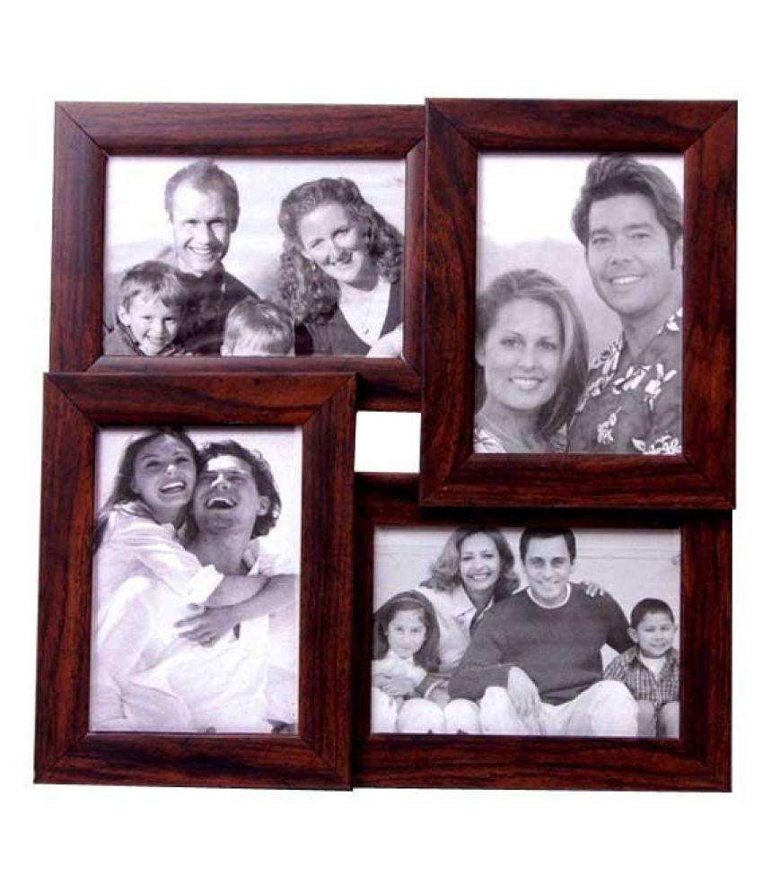 Shreenath Wood Black Collage Photo Frame - Pack of 1