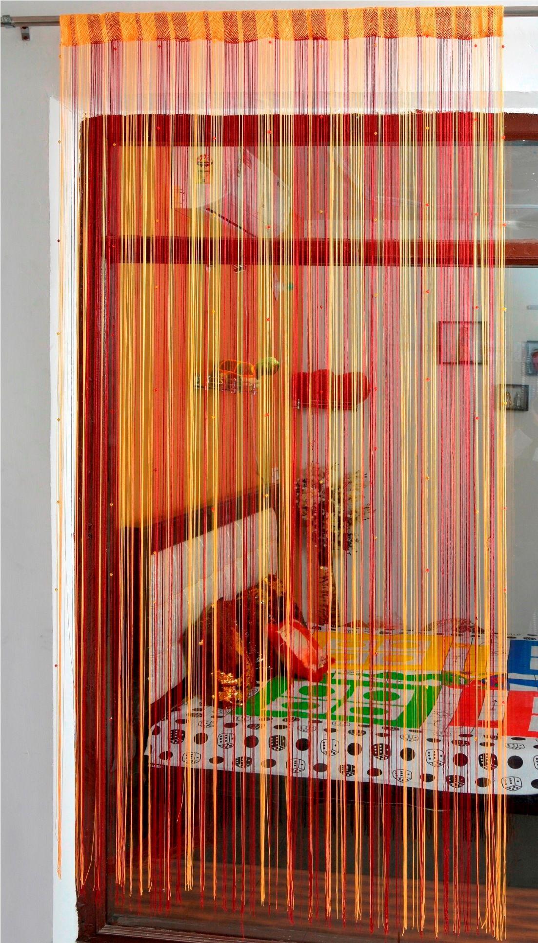 Ace International Exports Single Long Door Semi-Transparent Rod Pocket Polyester Curtains Maroon