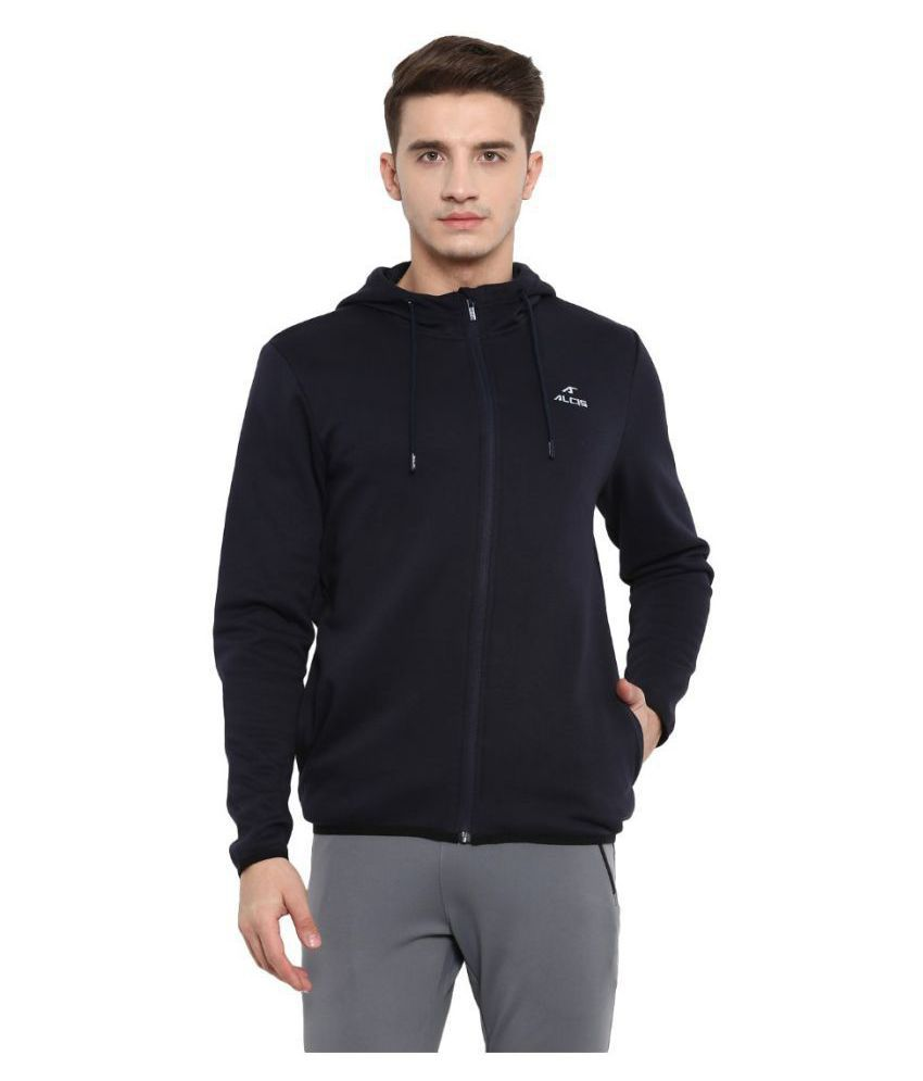 Alcis Black Polyester Fleece Jacket Single Pack