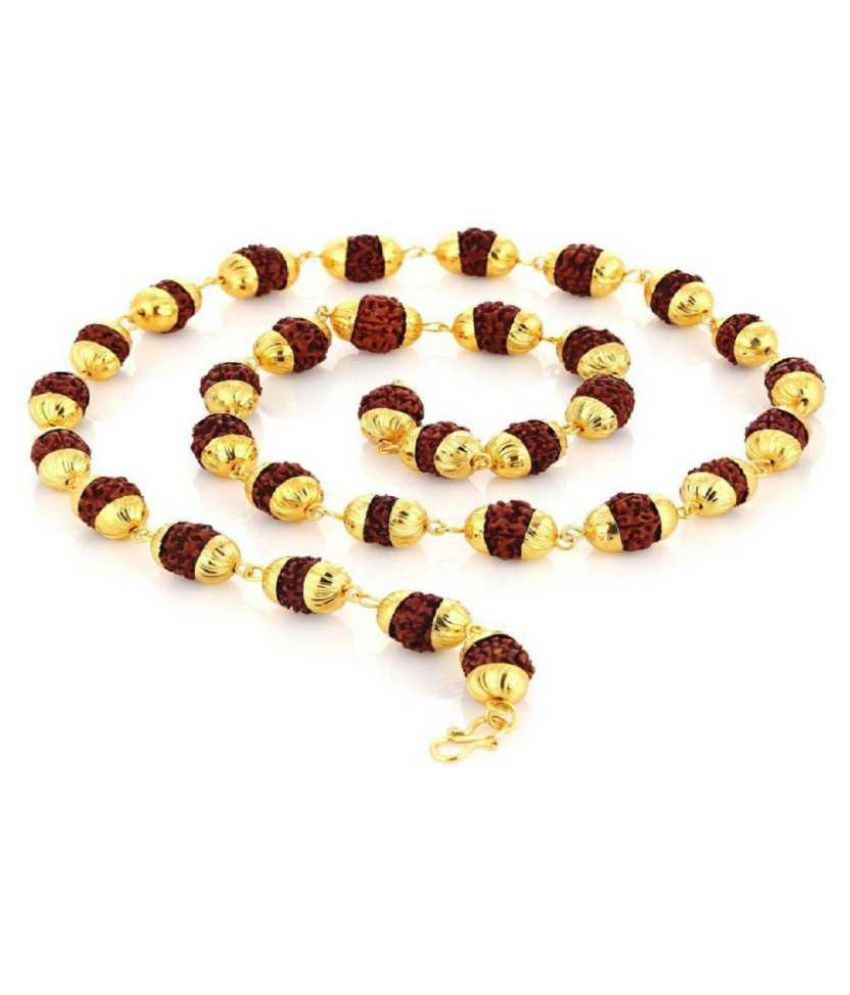 Rudraksh Gold Plated Chain