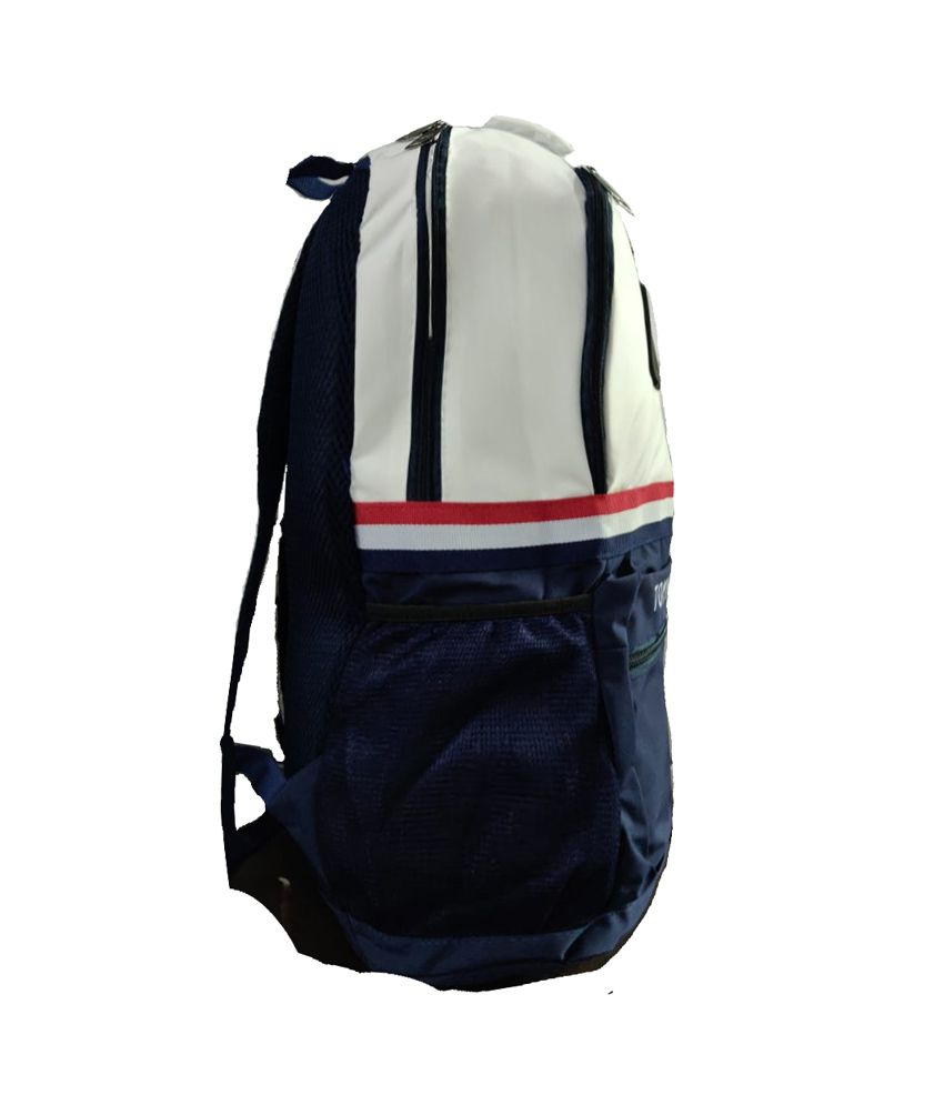 3759d65aaef ... Tommy Hilfiger White Polyester College Bags Backpacks Gents Bag Carry  Bag Men- 22 Ltrs Tourist ...