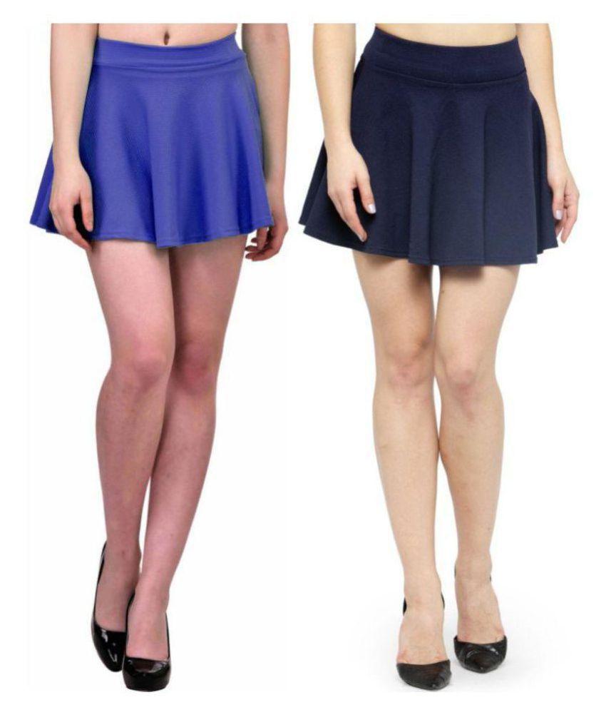 N-Gal Cotton Skater Skirt - Multi Color