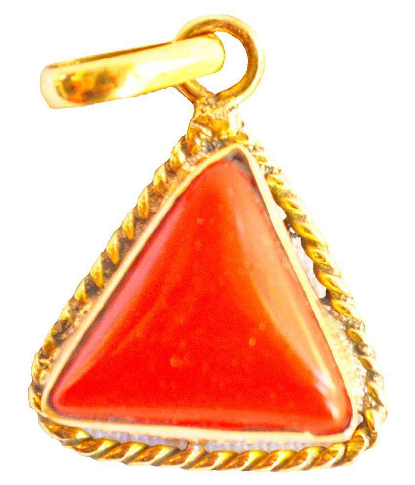 Swasti Retail 6.25 Ratti Red Coral Pendant/Locket (Moonga/Munga stone Panchadhatu Pendant) 100% Original AAA Quality Gemstone