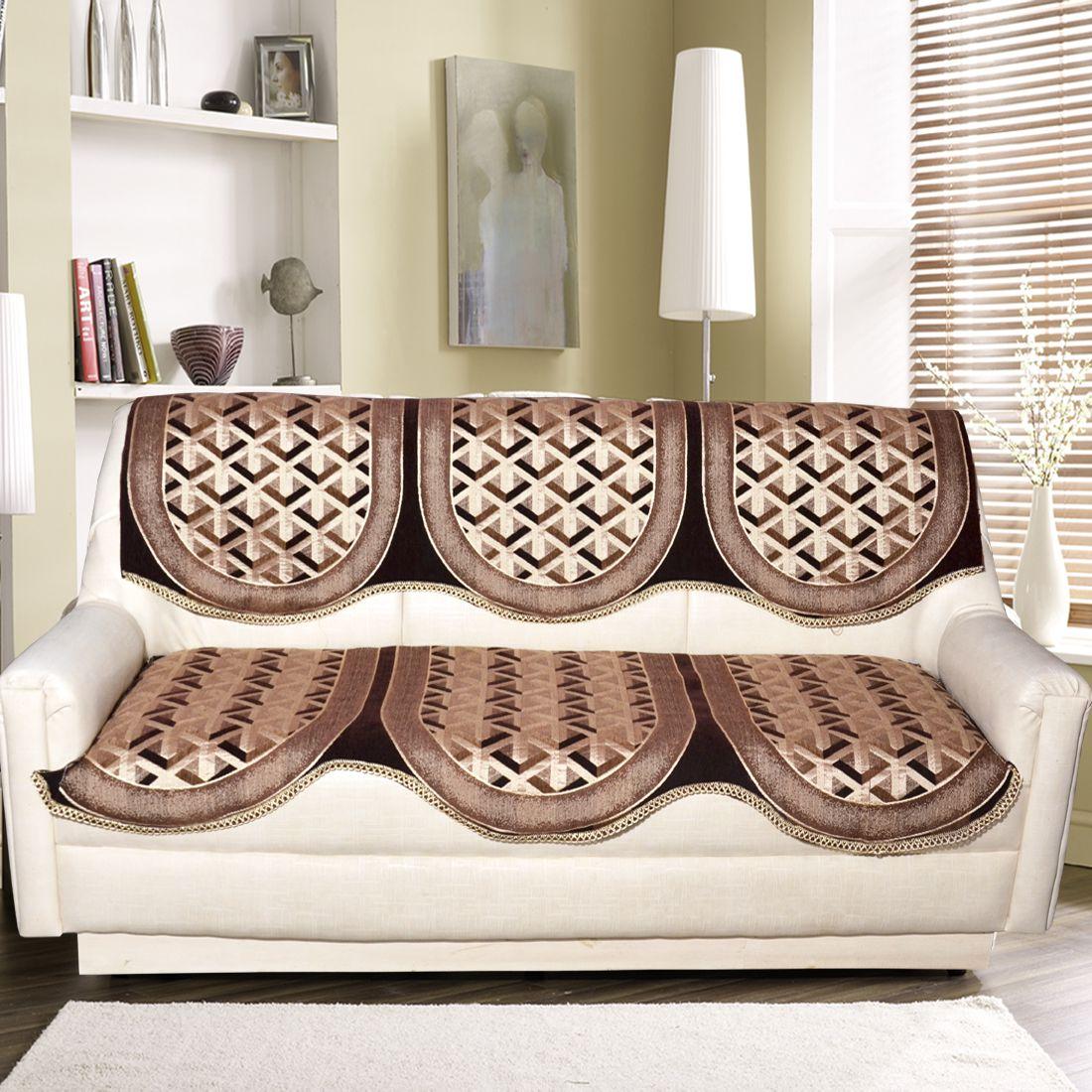 Tanya\'s Homes 3 Seater Velvet Set of 2 Sofa Cover Set
