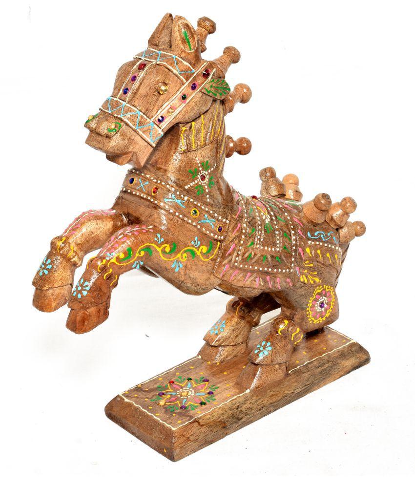 Jaipur Handicrafts Multicolour Wood Figurines - Pack of 1