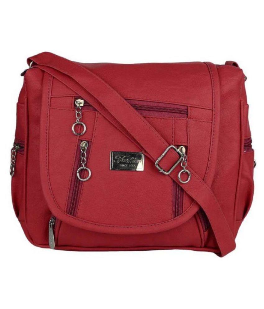 HG Maroon P.U. Sling Bag