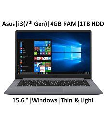 """ASUS X507UA- EJ314T ( Core i3-7th Gen /4 GB/ 1TB HDD / 15.6"""" FHD/ Windows 10 ) Thin and Light ( Stary Grey /1.68 kg)"""