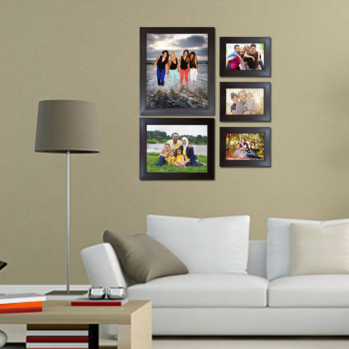 Trends on Wall Acrylic Brown Photo Frame Sets - Pack of 5