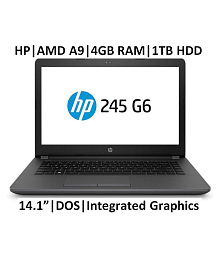 HP 245 G6 14.1'' ( AMD A9-9420 / 4GB RAM/ 1TB HDD/ DOS) Laptop