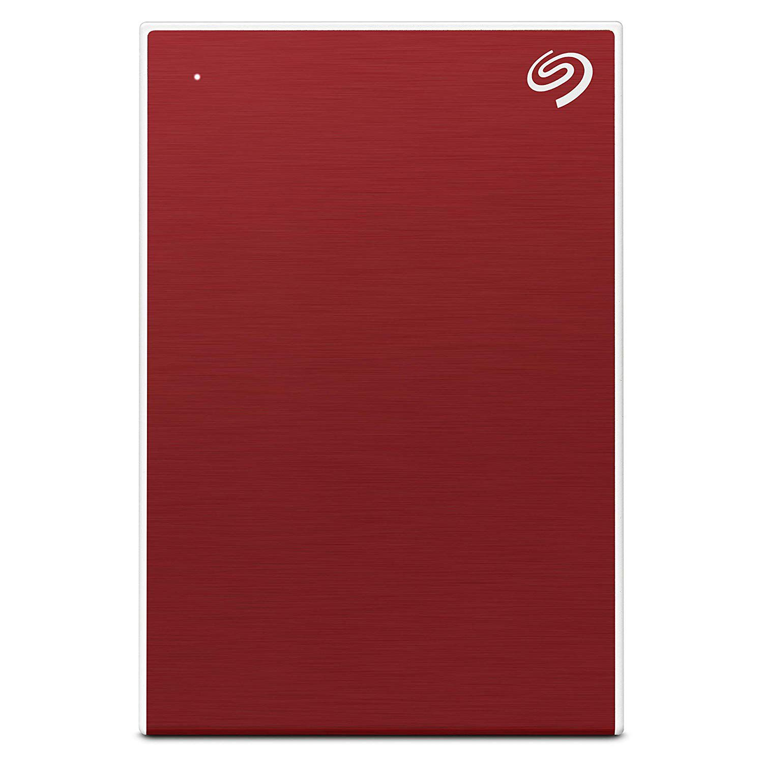 Seagate 2 TB Backup Plus Slim Portable External Hard Drive with 3 Offers Inside (Red) 2019 Edition