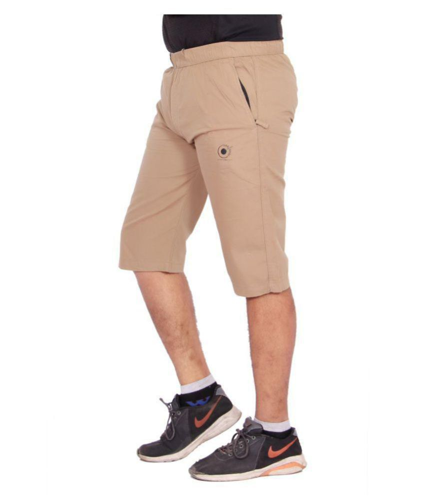 Kuber Industries Cotton Knee Length Capri for men   (Brown)