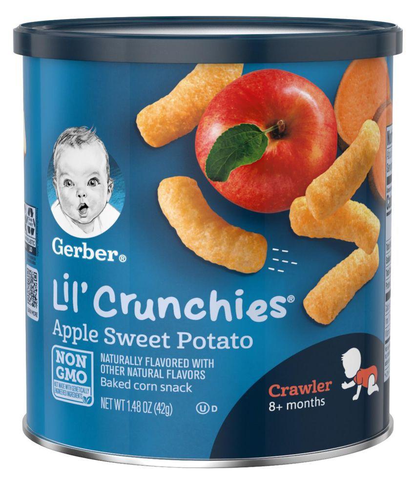 Gerber Apple & Sweet Potato Snack Foods for Under 6 Months ( 42 gm )