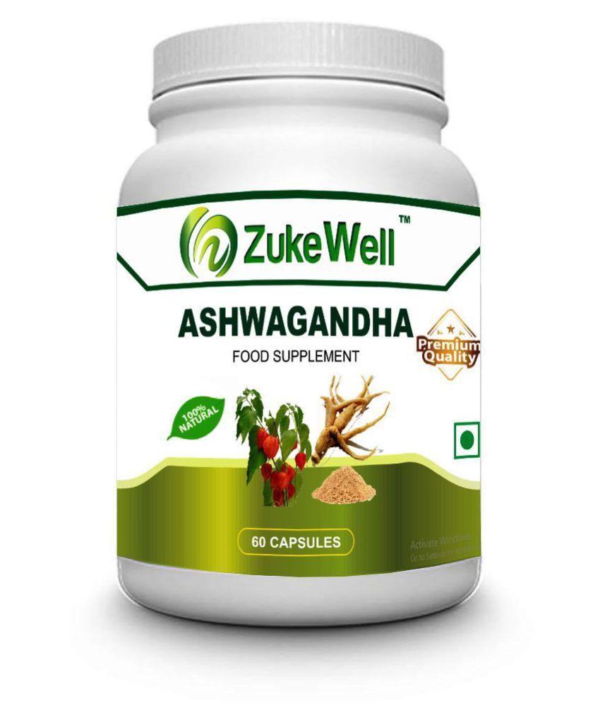 zukewell Ashwagandha Pure Extract Capsule 500 mg