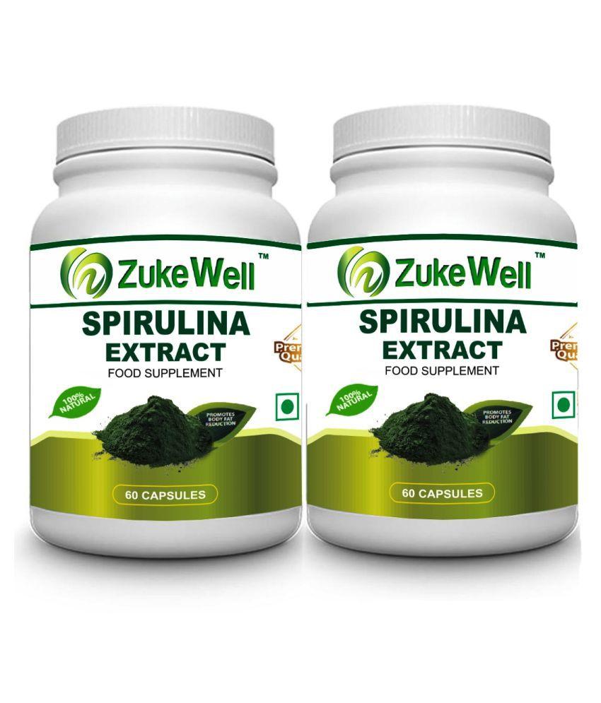 zukewell Spirulina Extract 60 Capsules Capsule 500 mg Pack of 2