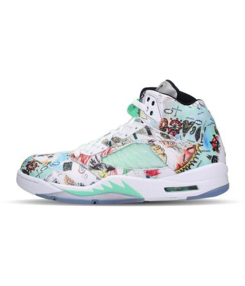 promo code d9056 3d569 Nike JORDAN 5 WINGS RETRO Multi Color Training Shoes