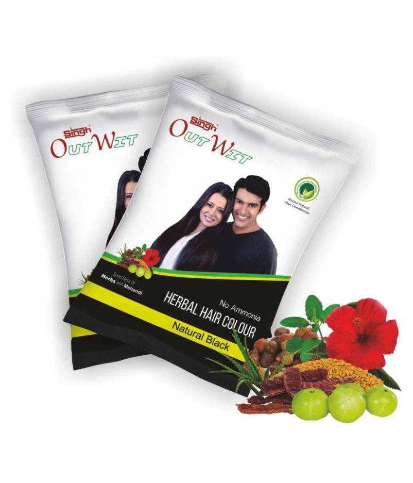 Singh Mehandi Industries Semi Permanent Hair Color Black Black 10 gm
