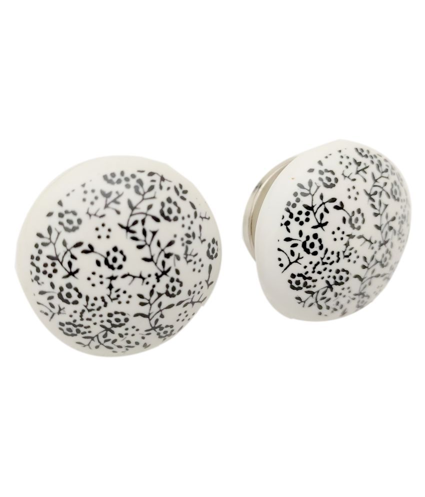 Artshai Pack of 6 Ceramic Beautiful Knobs for Cabinets & Cupboards| Drawer Pulls