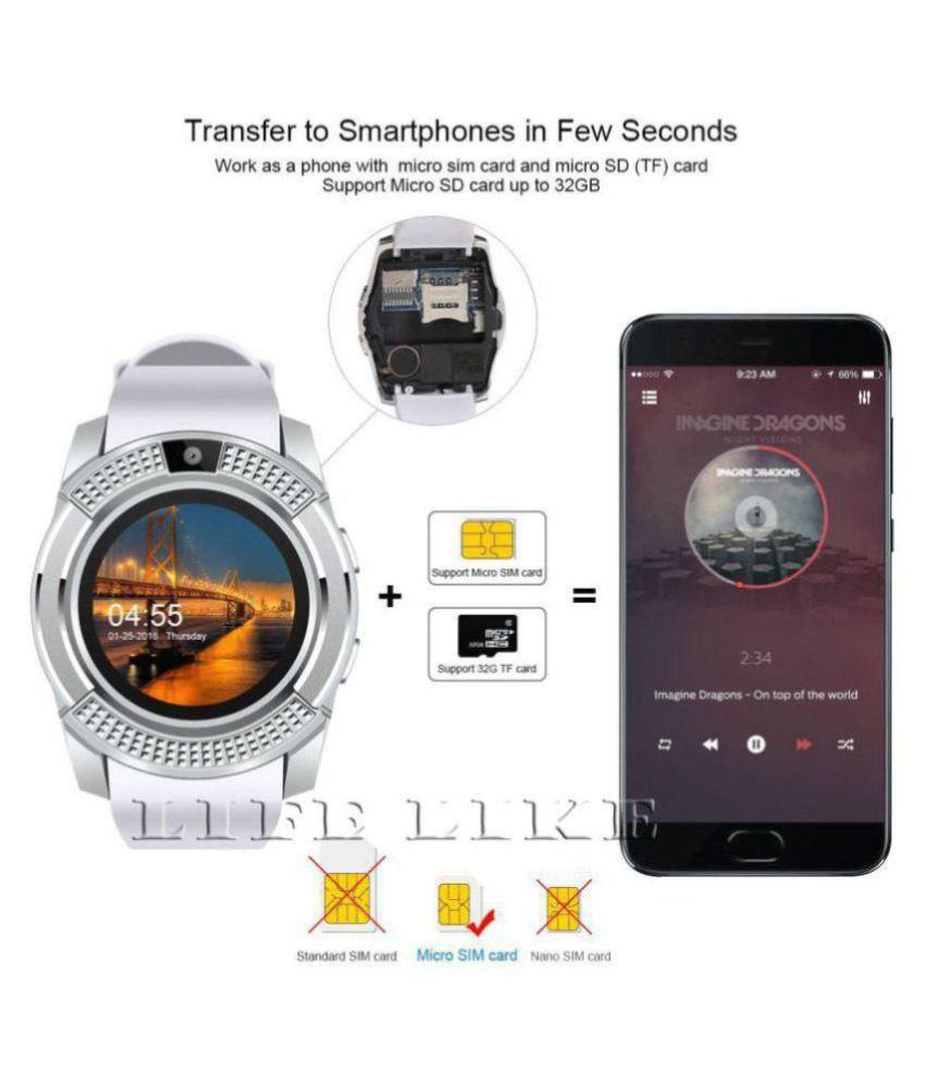 Life Like V8 Smart Watches White