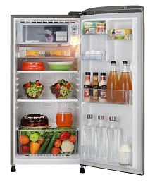 LG 190 Ltr 3 Star GL-B201RPZC Single Door Refrigerator - Silver