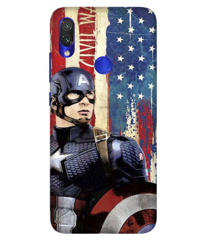 the best attitude d98b1 22cac Xiaomi Redmi Note 5 Pro Printed Cover By Digi Swipes Marvel Captain America  Mobile Back Cover and Cases Raised Lip for screen protection.