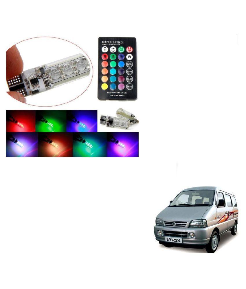Auto Addict Car 5050 T10 6 SMD Remote Control 12V RGB Car Reading Wedge Lights for Auto Tail Light,Side,Parking,Door,Parking,Indicator,Socket Lighting Bulb 2 Pcs For Maruti Suzuki Versa