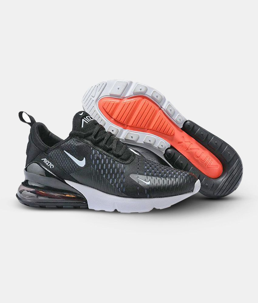 more photos 705af f8048 Nike Air Max 270 Black Running Shoes - Buy Nike Air Max 270 Black Running  Shoes Online at Best Prices in India on Snapdeal