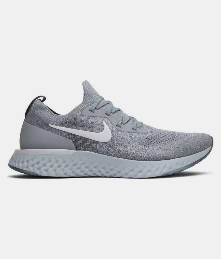 quality design 3bdc5 17135 Nike Epic React Flyknit Grey Running Shoes - Buy Nike Epic React Flyknit  Grey Running Shoes Online at Best Prices in India on Snapdeal