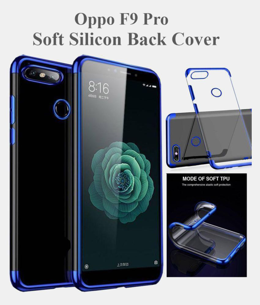 on sale 7a37d 9bdd4 Oppo F9 Pro Electroplated Back Cover - Blue