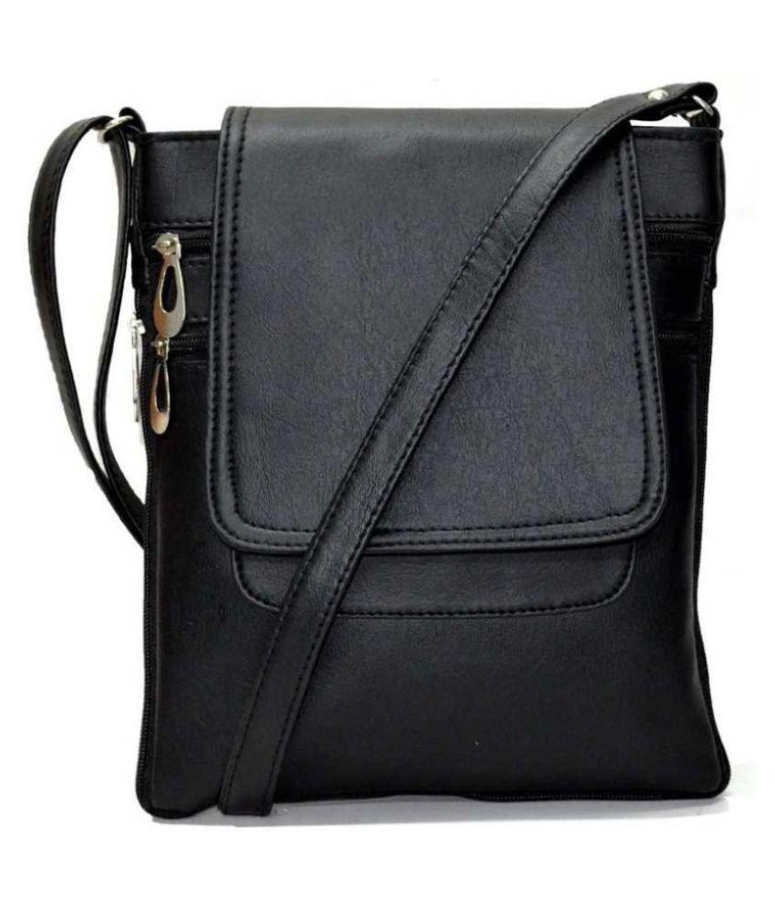 SHOPPING ZONE Black P.U. Shoulder Bag