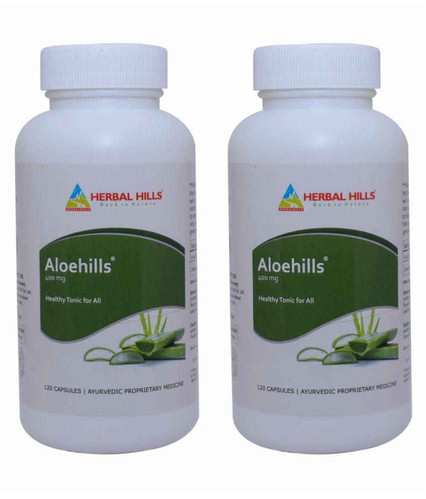 Herbal Hills Aloehills 120 (Pack of 2) Capsule 400 mg