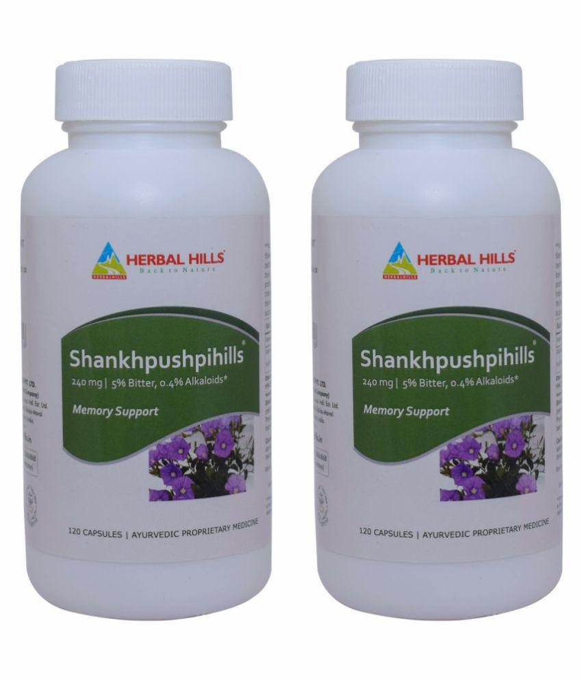 Herbal Hills Shankhpushpihills 120 (Pack of 2) Capsule 240 mg