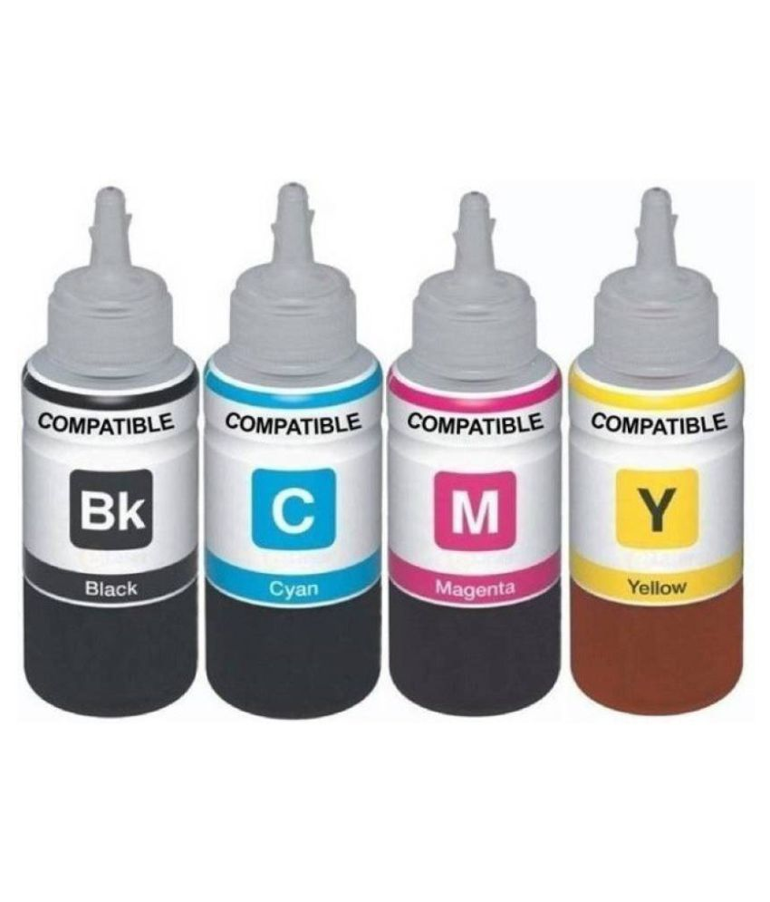 Kataria Refill Ink Multicolor Pack of 4 Ink bottle for For Use In Epson L455 Printer