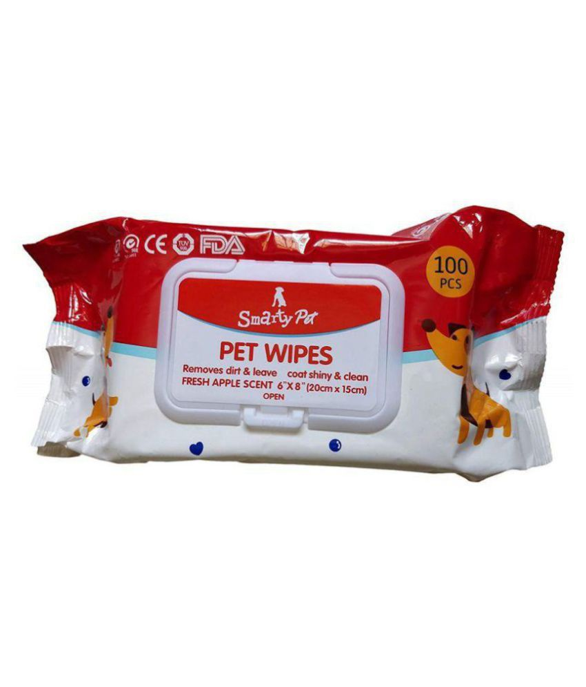 Purple Bone Pet Wipes for Dogs, Puppies & Pets Pack of 100 Wipes