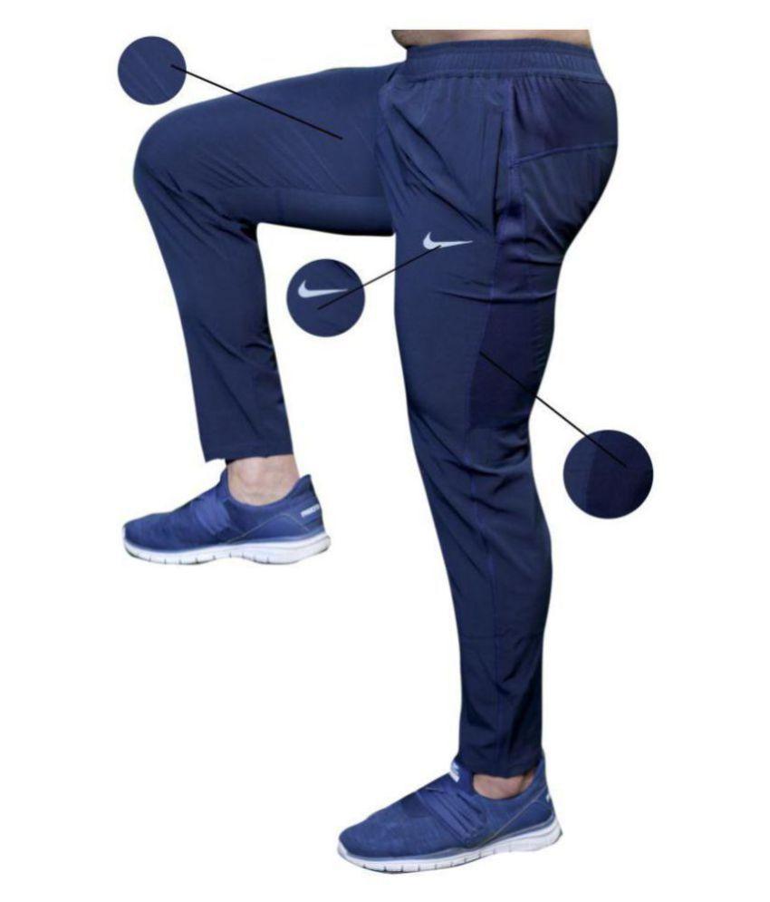 Blue Lycra Trackpants Dryfit