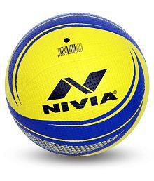Nivia Rubberised 18Panel Moulded Volleyball - Size 4-VB488