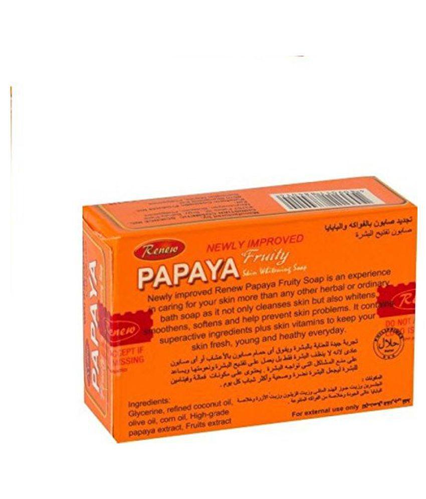 Queue Renew Papaya Fruity skin whitening Soap 135 gm: Buy ...