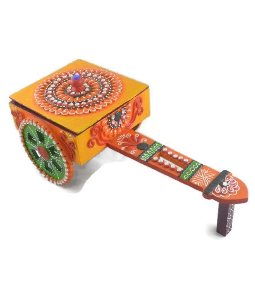 Jaipur Handicrafts Multicolour Wood Handicraft Showpiece - Pack of 1