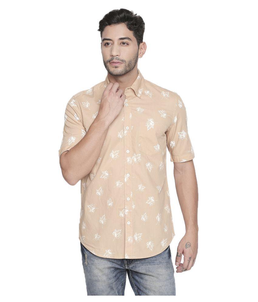 LION & HESS 100 Percent Cotton Pink Prints Shirt