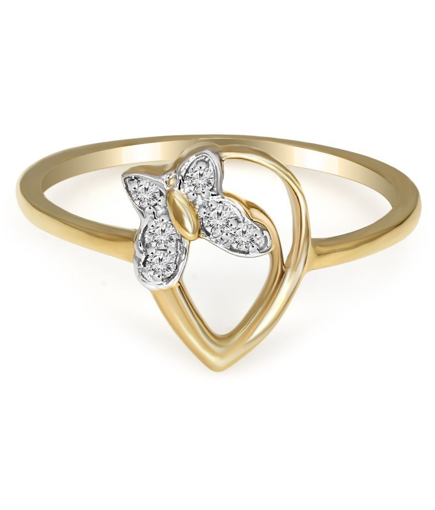 Sparkles 18k Yellow Gold Diamond Band Ring