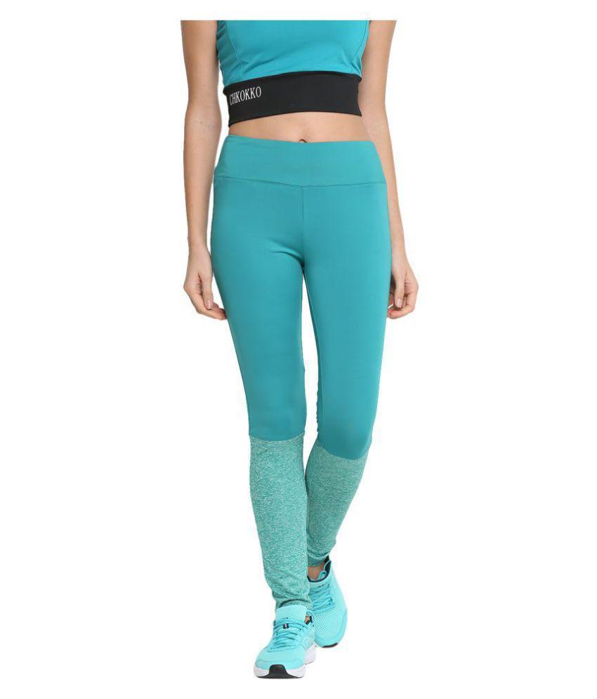 CHKOKKO Women High Waist Sports Fitness Leggings Gym Tights Stretchable Yoga Pant